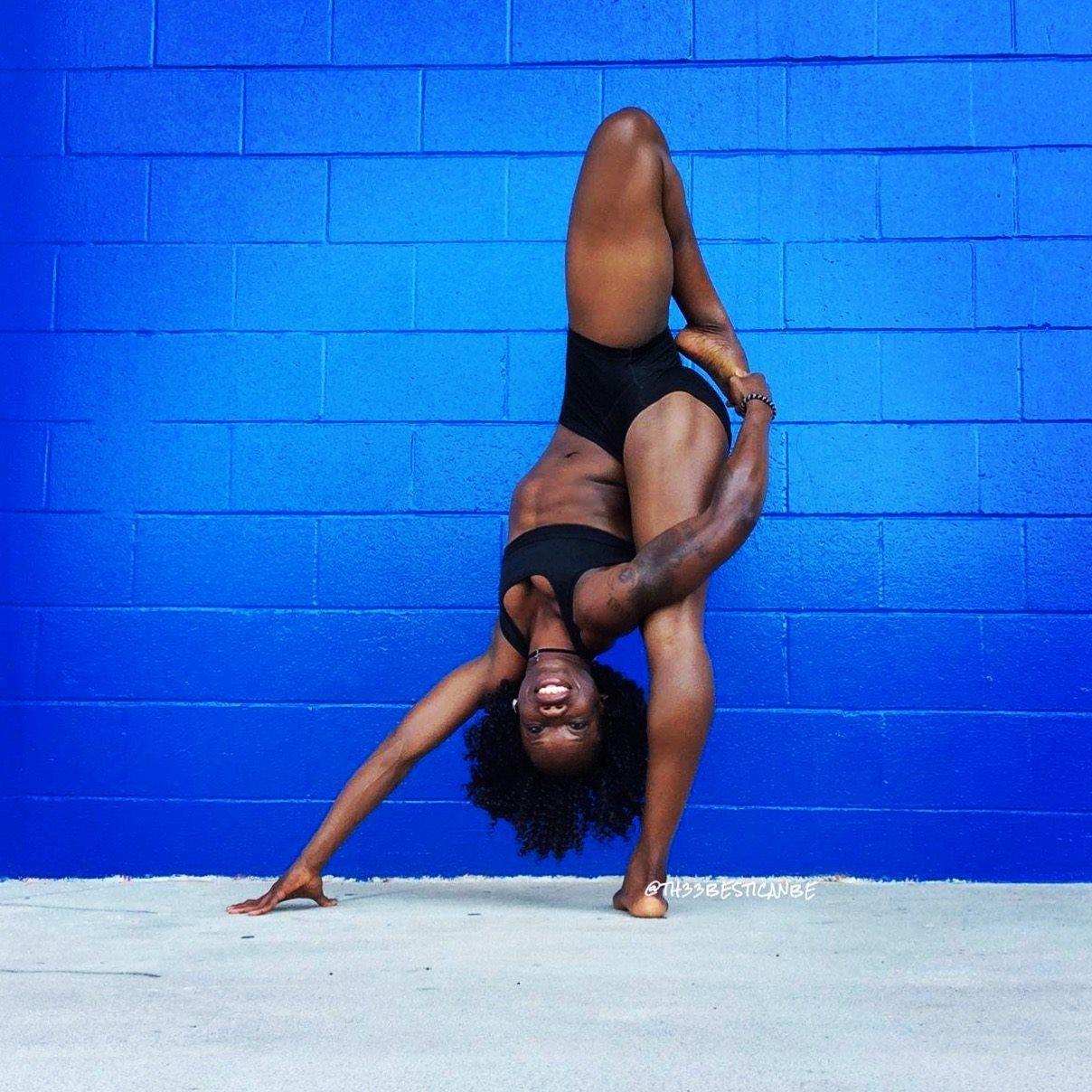 yoga, yoga photography, yoga poses, yoga ideas, black girl yoga, natural hair styles, natural hair, protective styles, yoga inspiration, advanced yoga, black queen, black models, melanin, ig models, black girl magic