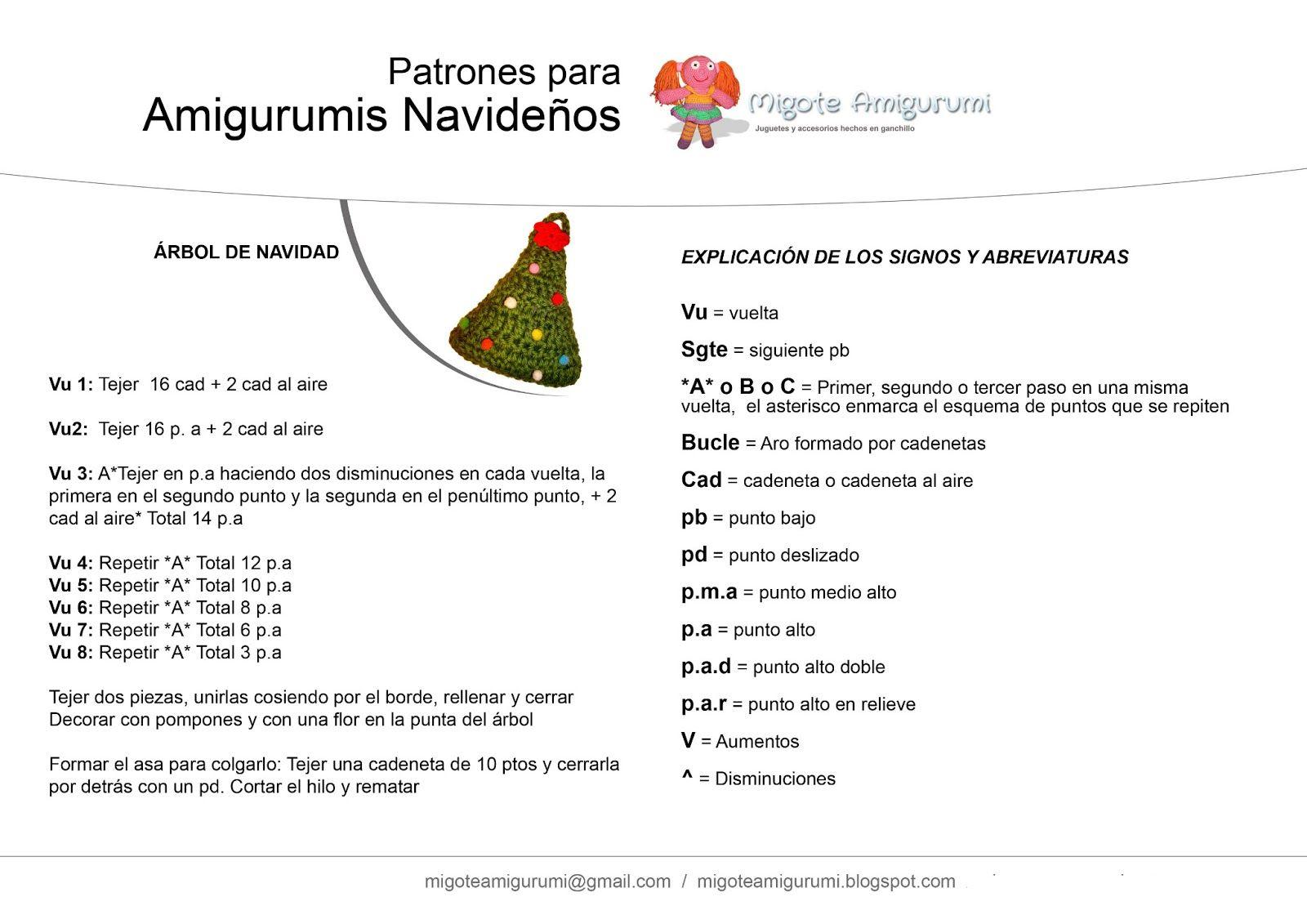 PATRON GRATIS MUÑECA NAVIDAD AMIGURUMI 35347 | 1131x1600