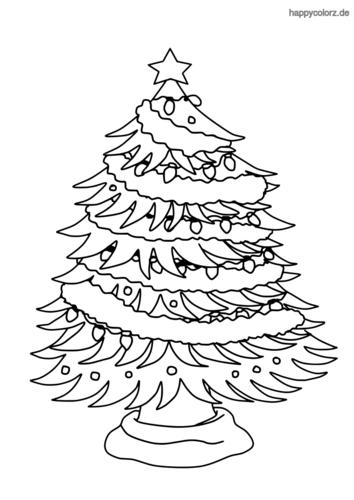 Geschmuckter Weihnachtsbaum Ausmalbild Weihnachten Zum Ausmalen Weihnachtsfarben Weihnachtsmalvorlagen