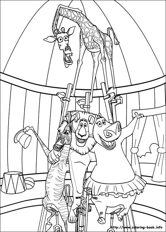 Madagascar 3 coloring picture Cool coloring pages Free