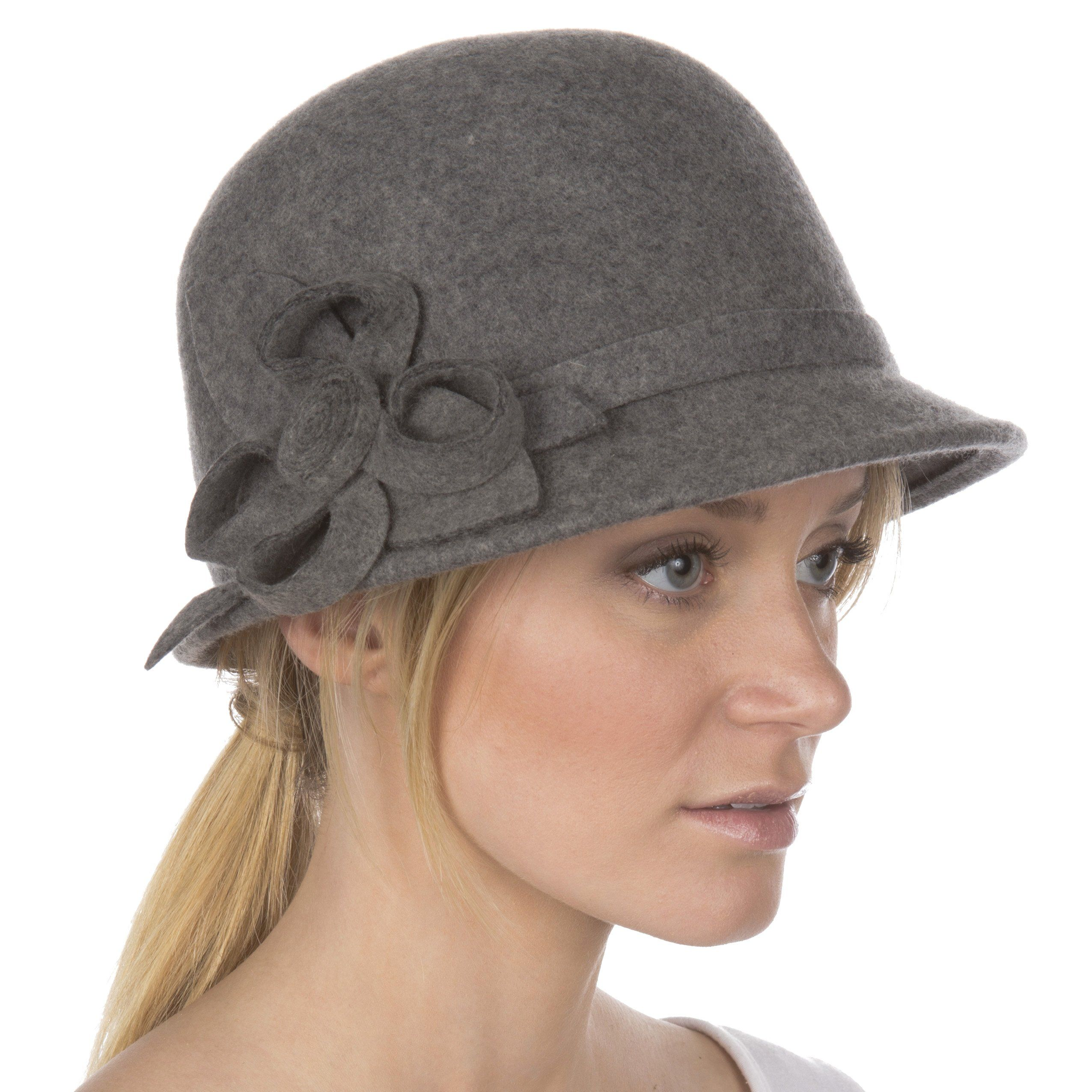 1315f73d9 Womens Bernadette Vintage Style 100% Wool Cloche Bucket Winter Hat ...