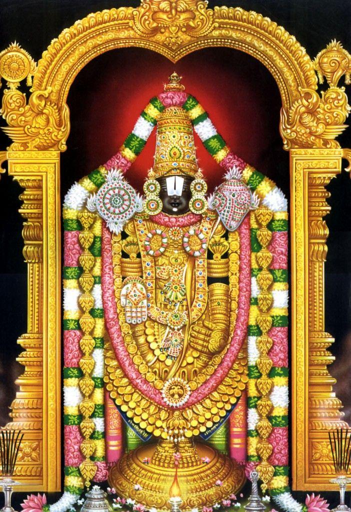 Today Is Pushpangi Seva To Tirupati Sri Ezhumalaiyan This Temple Is Located In Tirupati Chittoor Andhra Lord Balaji Lord Vishnu Wallpapers Tanjore Painting
