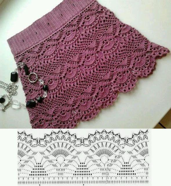 Mi baúl de Inspiraciones : Faldas de verano tejidas en crochet ...