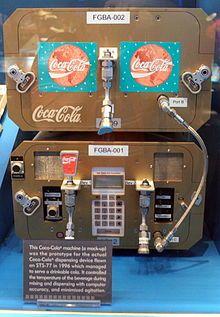 Coke dispenser flown abroad the Space Shuttle in 1996.