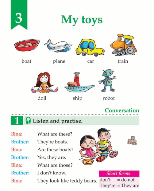 English Book Grade 1 My Toys