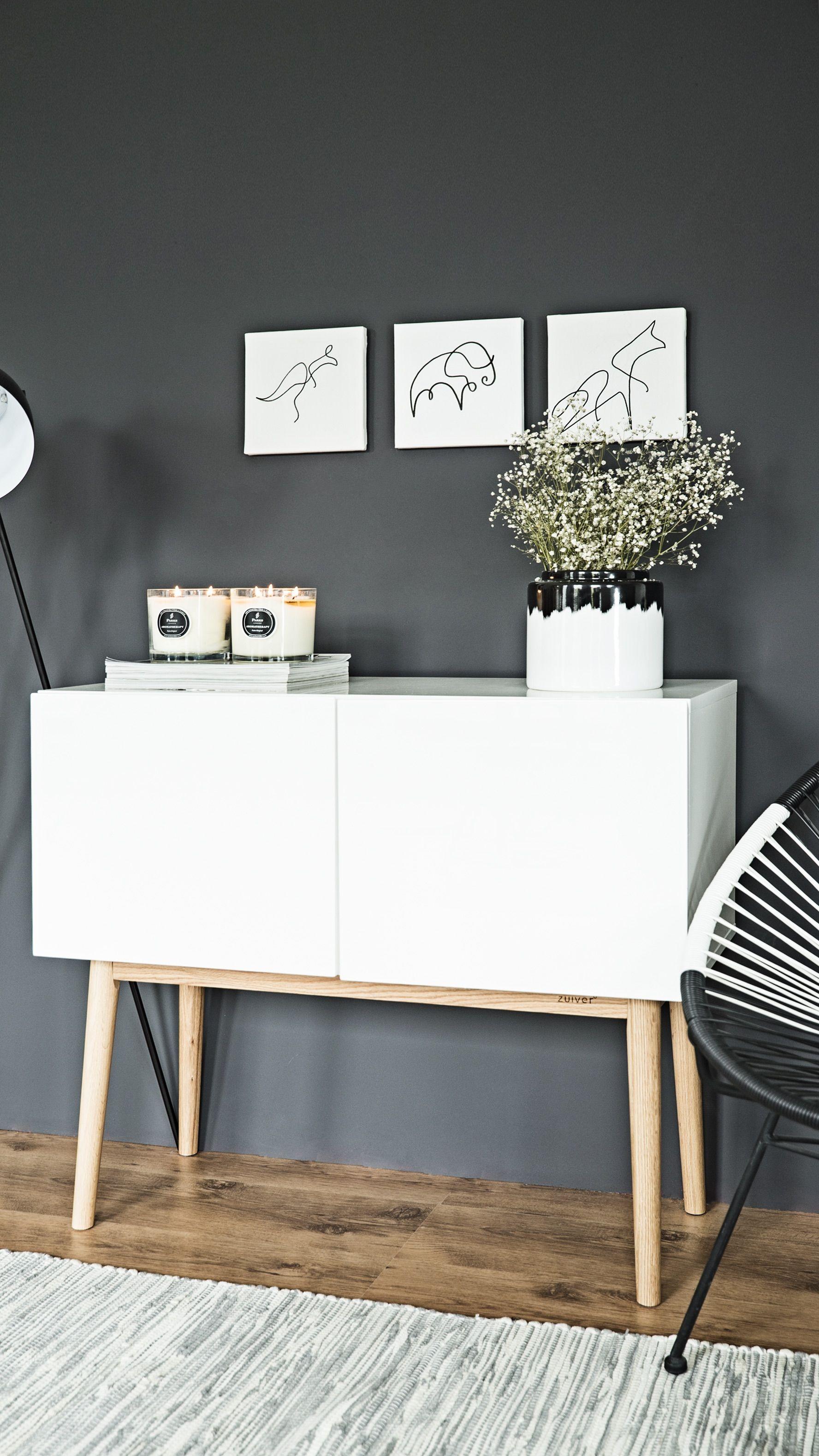 Die Kleine Kommode Von Zuiver Verspricht Stauraum Und Style. Mit Seinem  Cleanen Look In Weiß