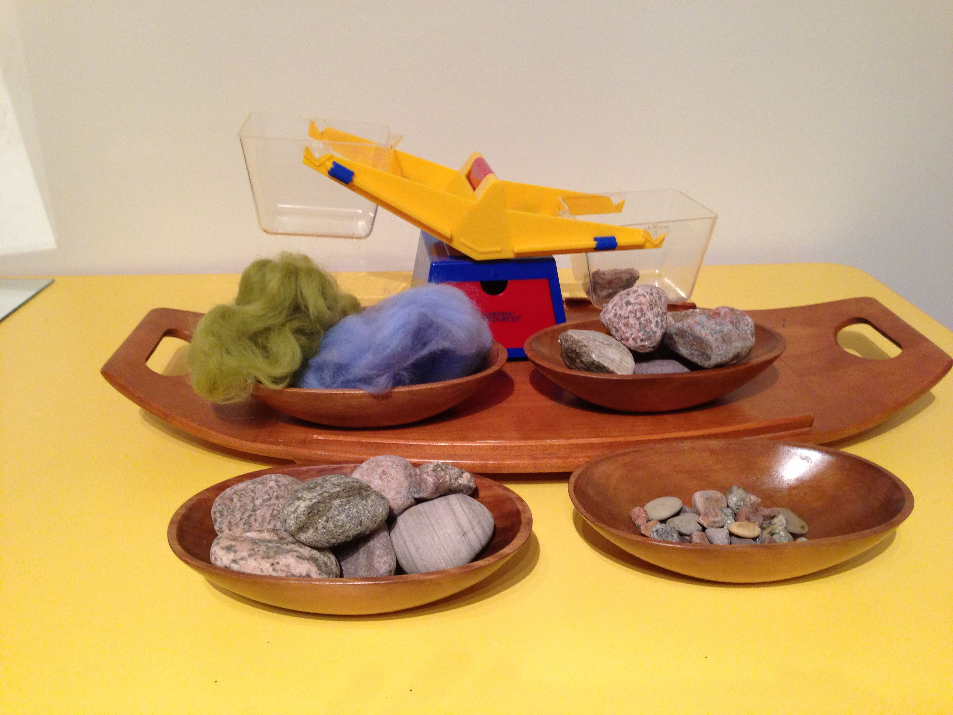 Invitation To Explore Weight With Balance Scale Rocks And