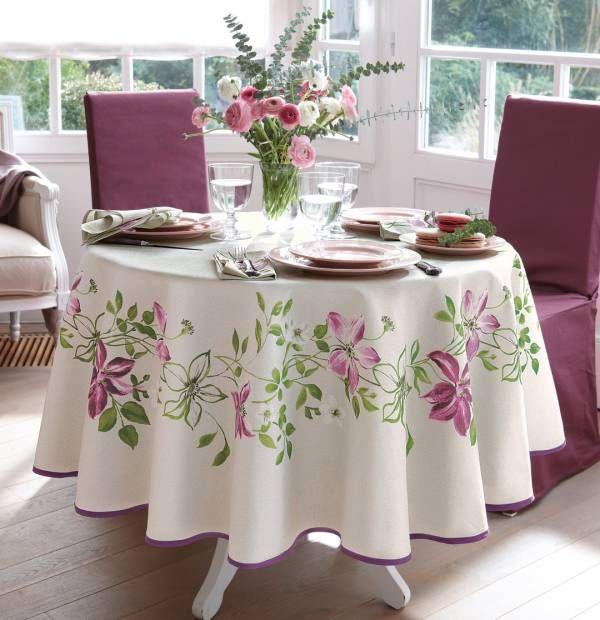 nappe fleuri fiancailles pinterest nappe jardin anglais et deco table. Black Bedroom Furniture Sets. Home Design Ideas