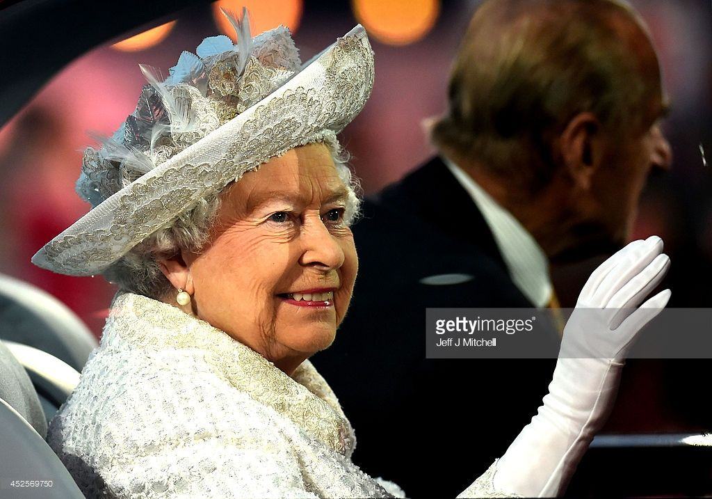 Queen Elizabeth II, Patron of the CGF arrives during the