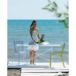 Klapp-Tisch Flower Ethimo weiß, Designer Ethimo Design Studio, 75x160x80 cm EthimoEthimo #trendybedroom