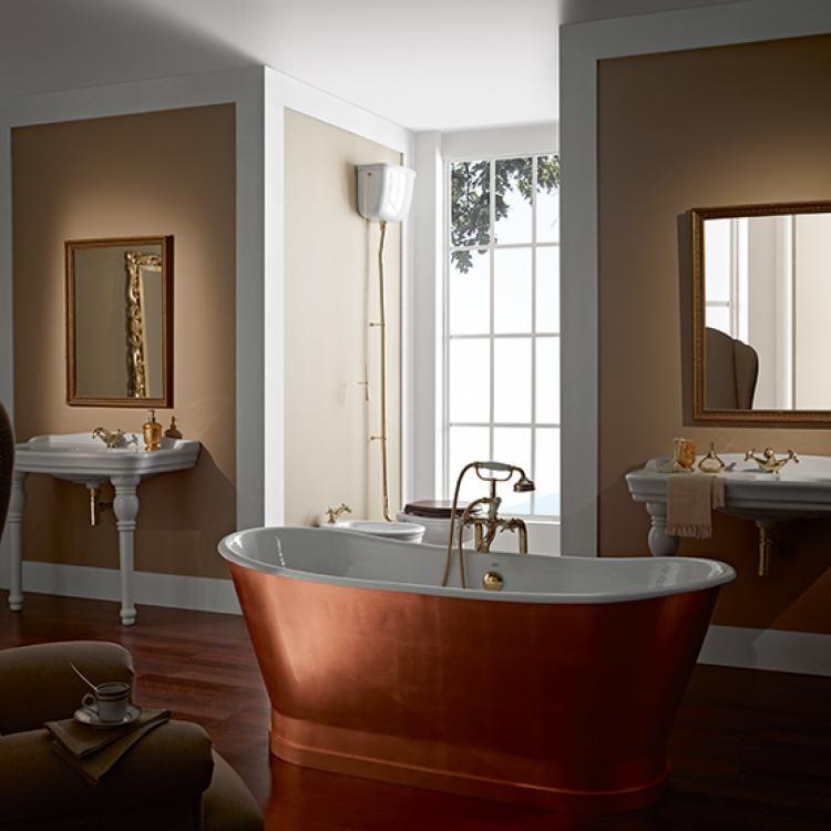Cheviot Cast Iron Bath With Copper Exterior