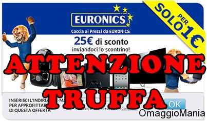 """Truffa """"persolo1euro"""" Euronics: attenzione - http://www.omaggiomania.com/buoni-sconto/truffa-persolo1euro-euronics-attenzione/"""