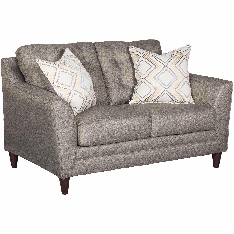 Kaede Gray Chesterfield Loveseat Living Room Sofa Cheap Living