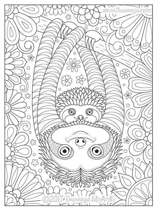 faultiere malvorlagen  animal coloring pages in 2020