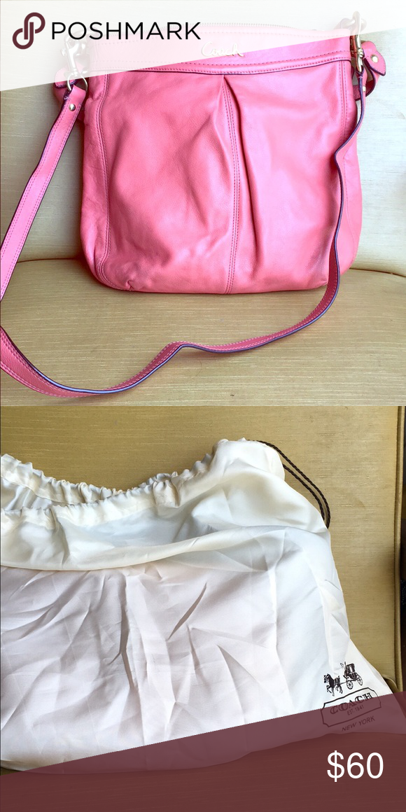 Coach Leather Satchel Pink oversized satchel. Great for the summer! Coach Bags Satchels