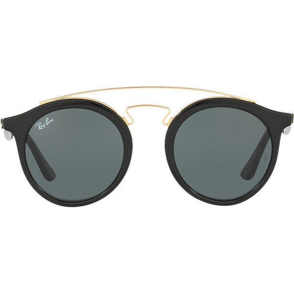 19e68e122c GATSBY (2,690 MXN) ❤ liked on Polyvore featuring accessories, eyewear,  sunglasses, glasses, sunnies, retro round sunglasses, ray ban sunglasses,  ...