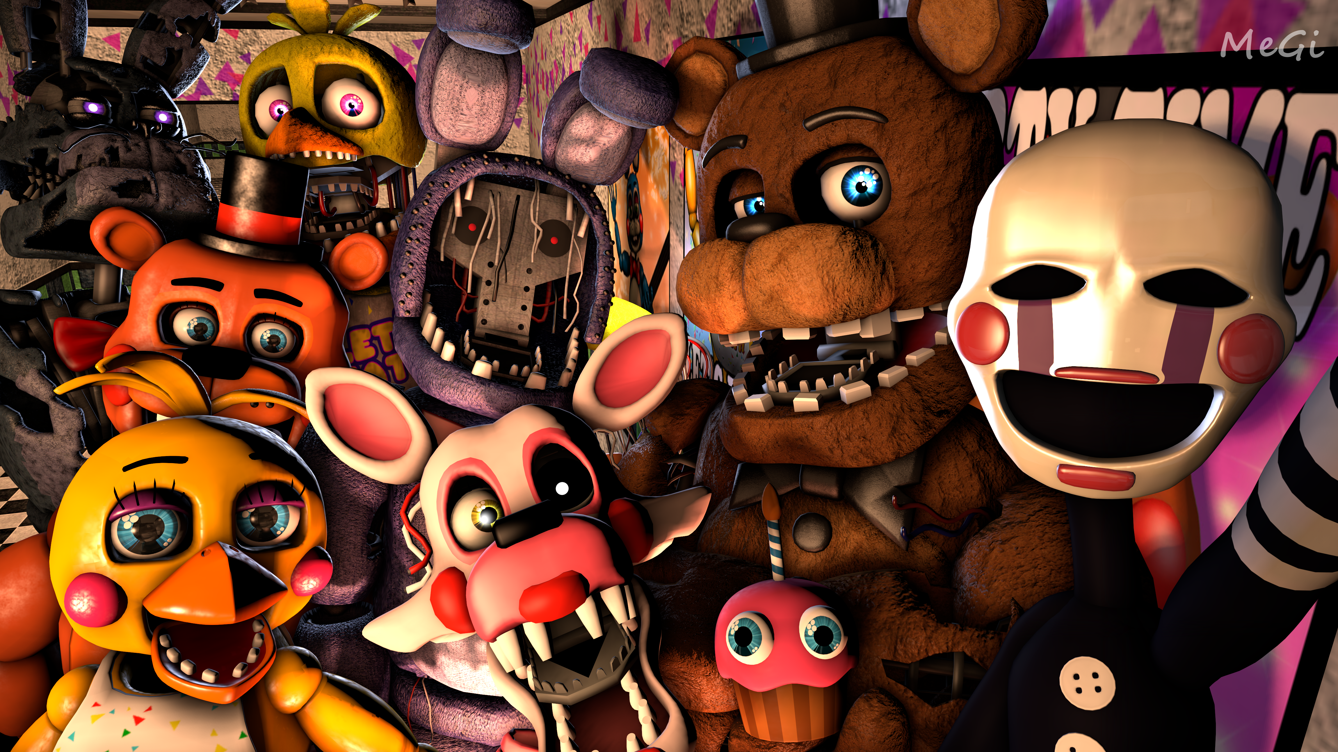 Withered Freddy Withered Bonnie Withered Chica Toy Freddy The
