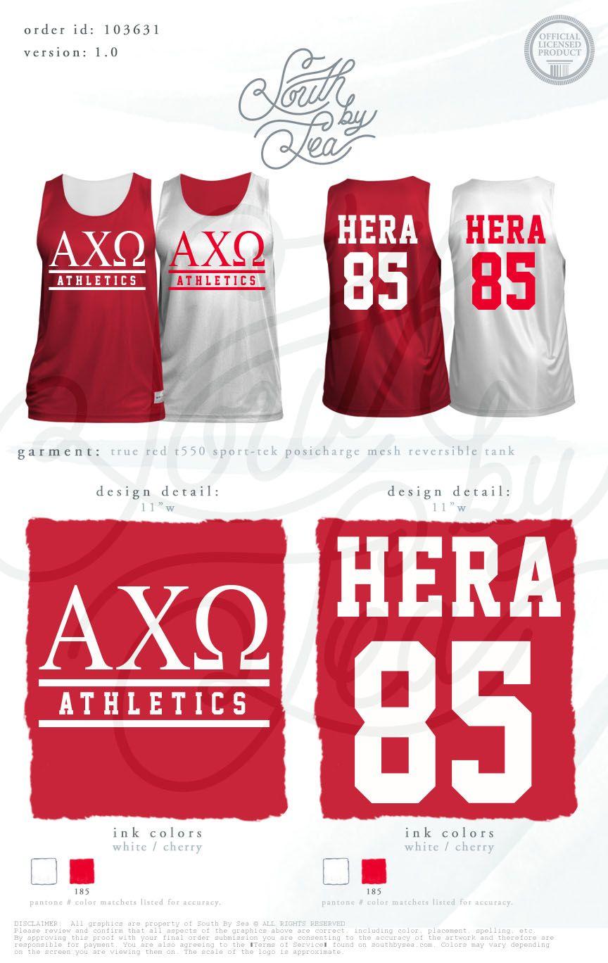Alpha Chi Omega Axo Custom Jersey Design Greek Intramural