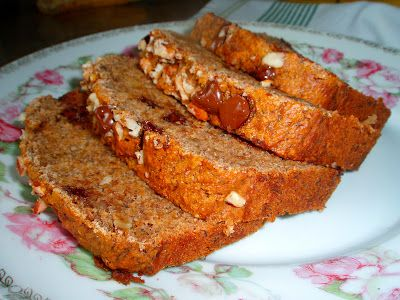 Better For You Banana Bread (recipe from my sister -- contains no sugar & can be made with all whole-wheat flour)