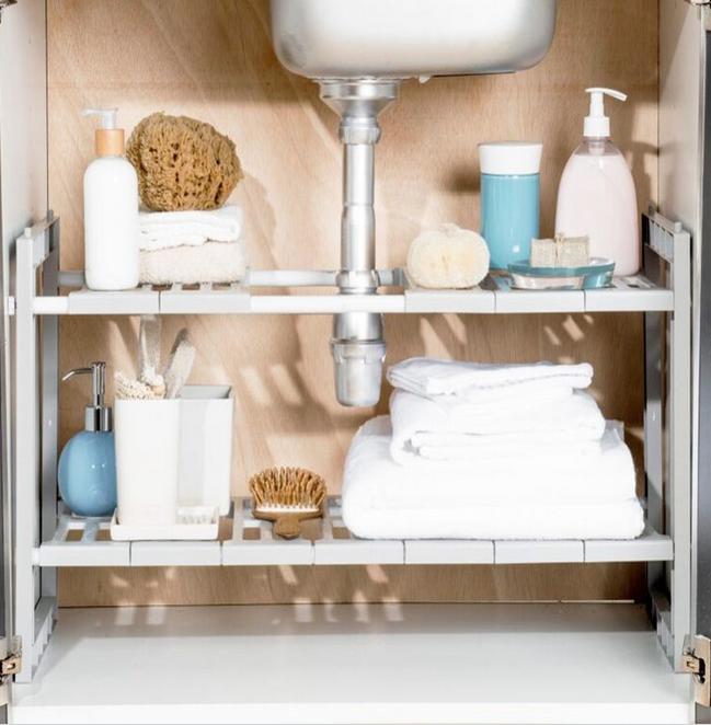 etagere sous lavabo rangement pratique
