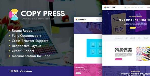 CopyPress | Type Design & Printing Services HTML Template (Retail ...