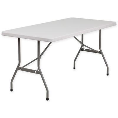Flash Furniture Granite White Plastic 5 Folding Table Folding Table Flash Furniture Furniture