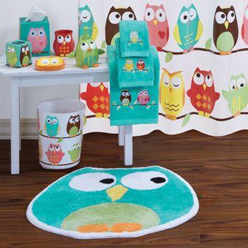 Owl Bathroom Set Kid Bathroom Decor Owl Bathroom Owl Bathroom