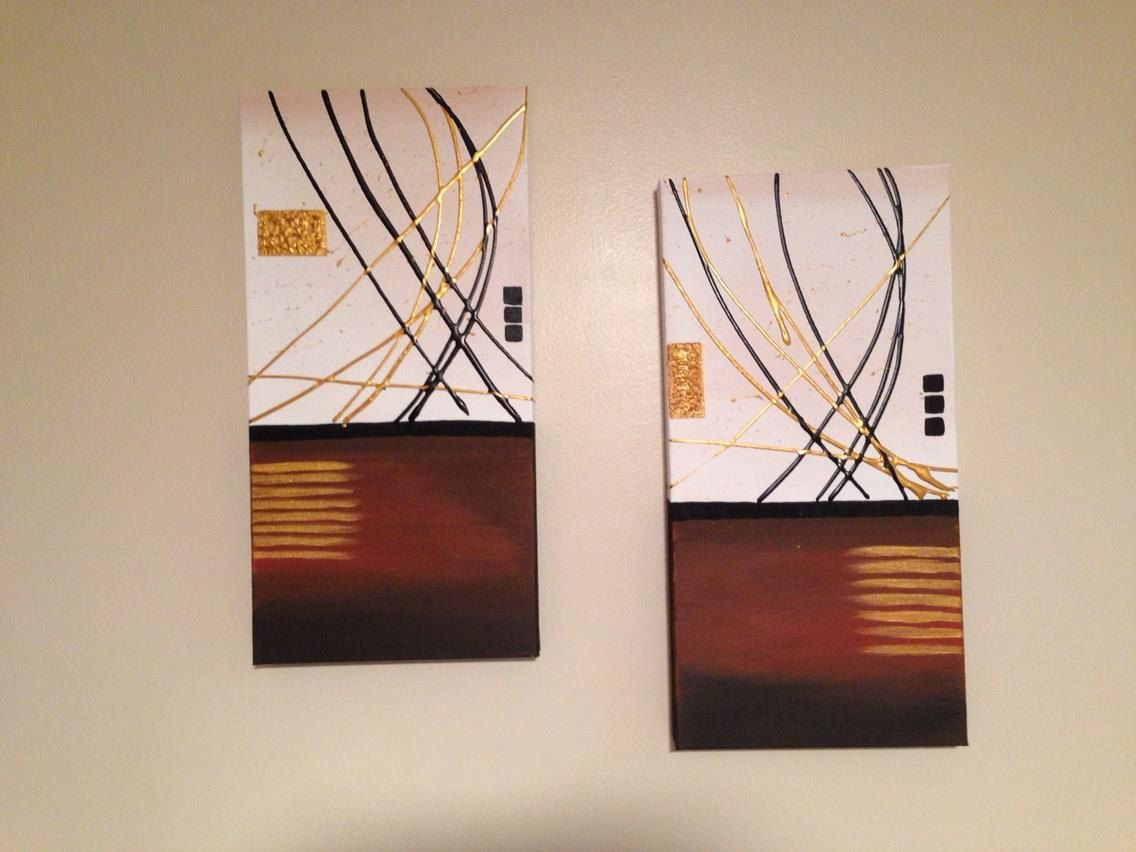2-10x20x1.5 inch premium gallery stretched canvases. $139.00, via Etsy.