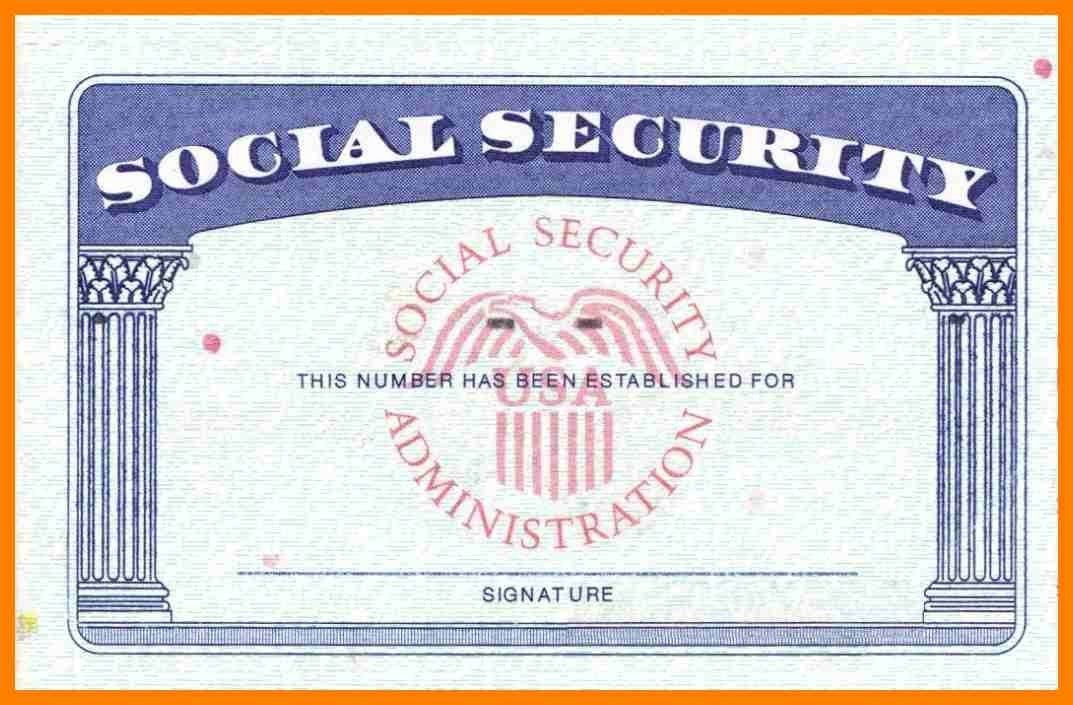 Blank Social Security Card Template Download Blank Social Security