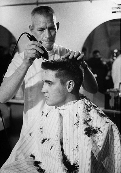 Hair Today Gone Tomorrow Love This Pic Elvis Presley Army Elvis Presley Army Haircut