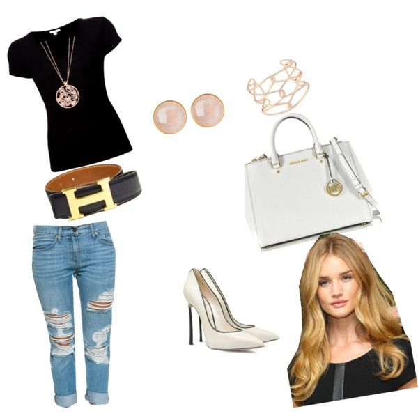 Look Casual by Fabi by fabisennalage on Polyvore featuring polyvore fashion style James Perse Casadei Michael Kors London Road Alexis Bittar Saachi Hermès