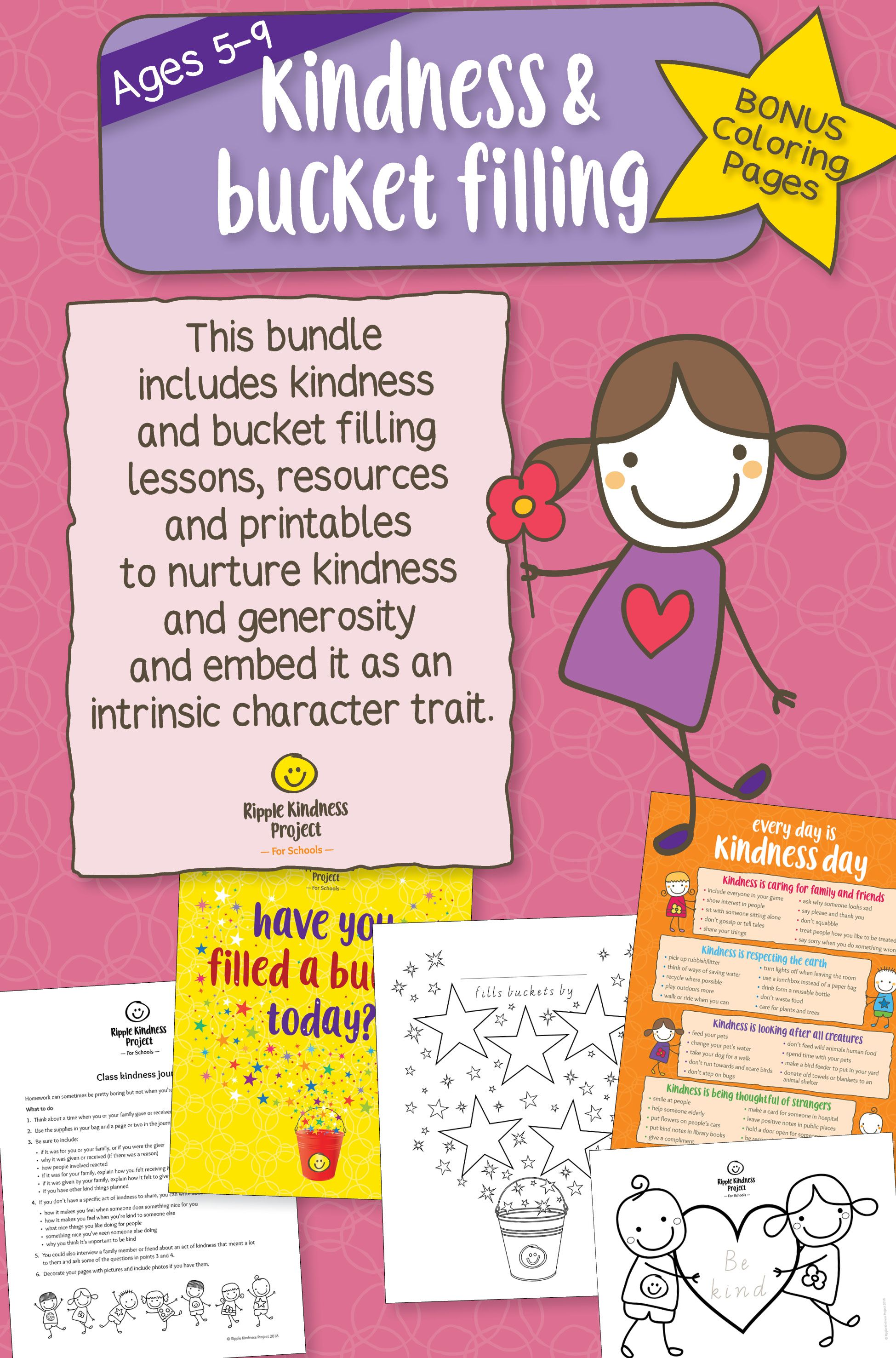 Kindness & Bucket Filling Bundle - US Letter | Curriculum and School