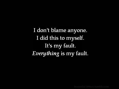 i don't blame anyone. i did th...