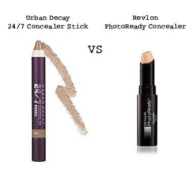 Concealer Wars. Urban Decay 24/7 Concealer Stick vs Revlon ...