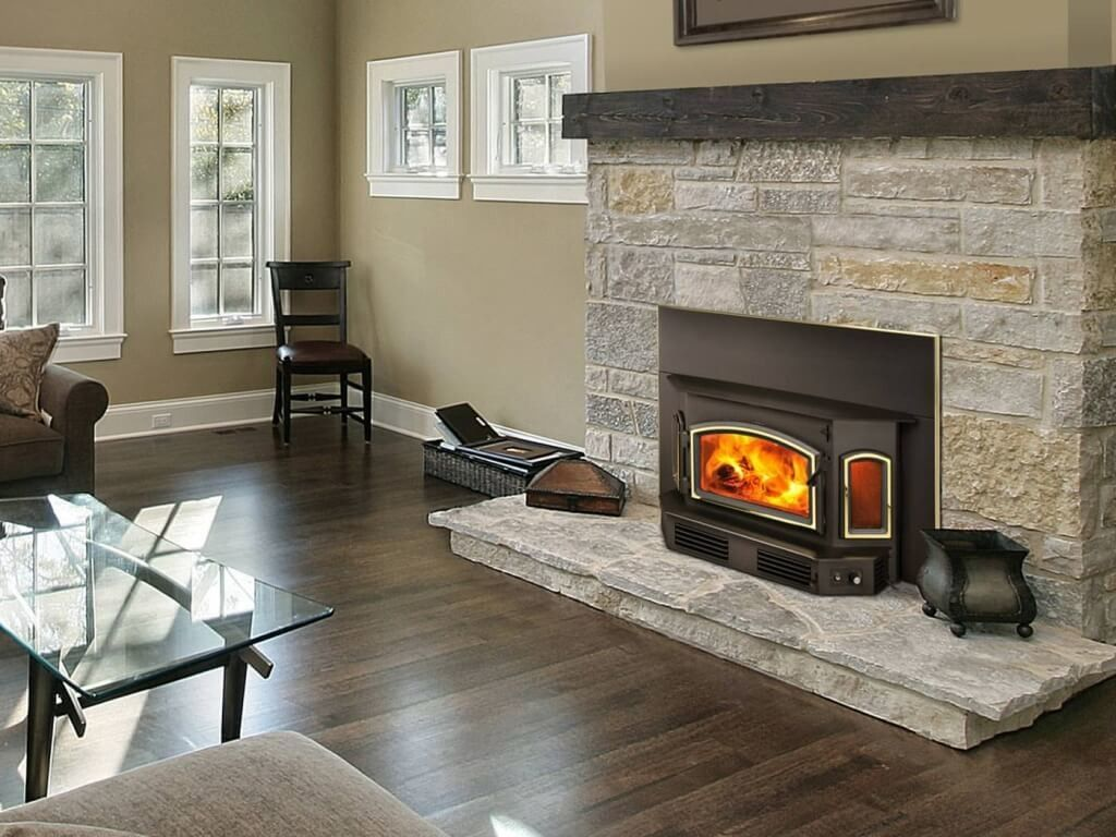Interior Design, Contemporary Regency Wood Burning Stove With ...