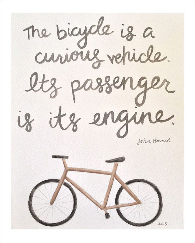 bicycle quote | amy zhang design | Bike quotes, Cycling quotes