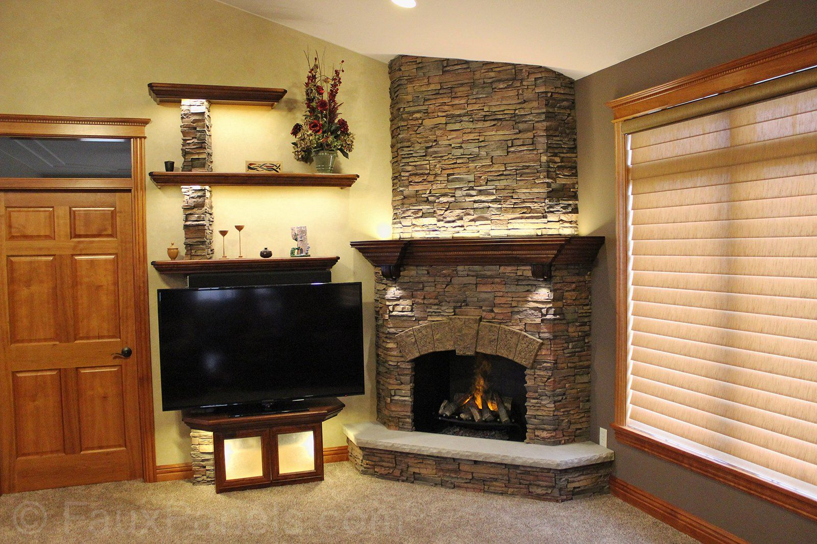 Faux Paneling Ideas Photos To Inspire Diy Design Projects Build A Fireplace Home Renovation Updating House