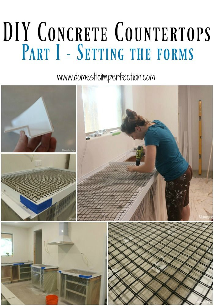 Diy Concrete Countertops Part I Setting The Forms Concrete Diy Diy Concrete Countertops Kitchen Remodel Countertops
