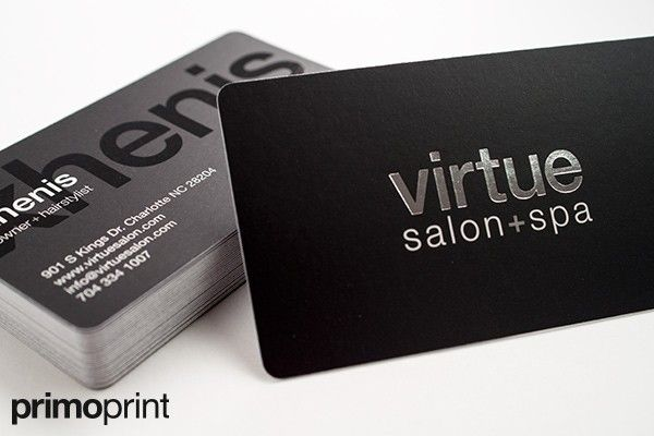 silver foil business cards