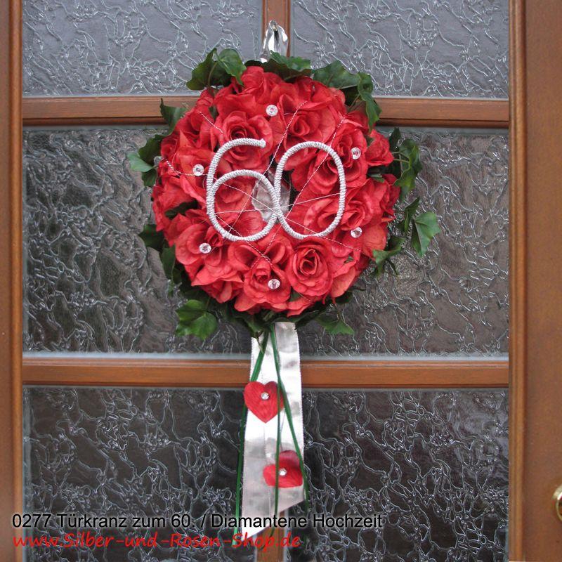 rosen t rkranz f r diamanthochzeit t rkr nze rose und rote rosen. Black Bedroom Furniture Sets. Home Design Ideas