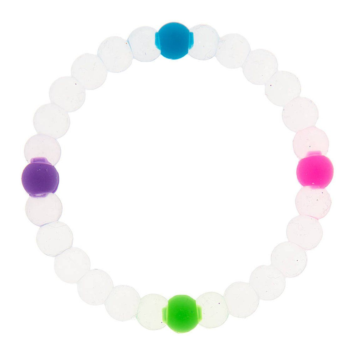 Clear Rainbow Fortune Stretch Bracelet