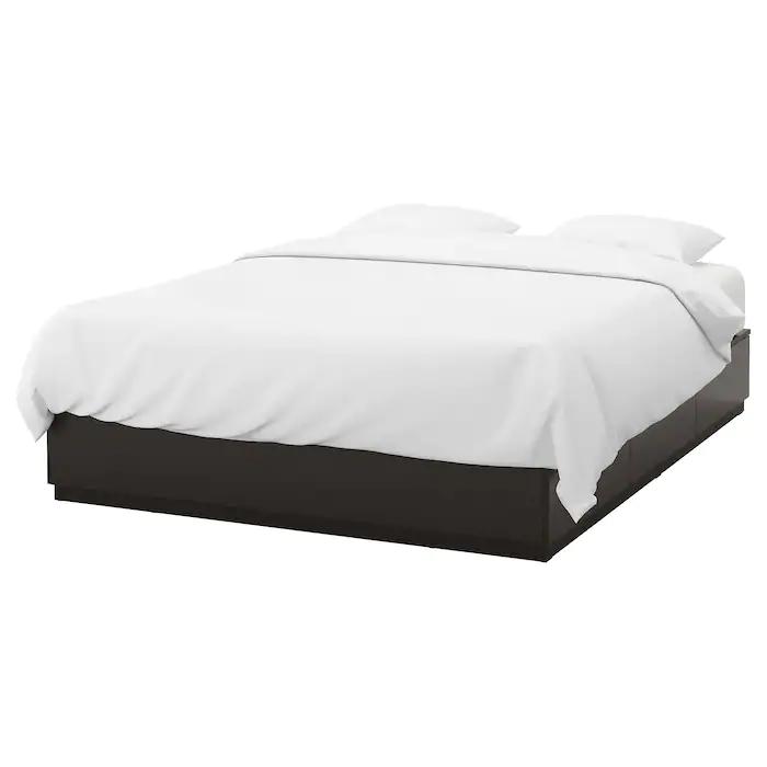 Nordli Bedframe Met Opberglades Antraciet 180x200 Cm Ikea Bedkader Bed Zonder Hoofdeinde Ikea Bed