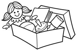 operation christmas child shoebox clipart Google Search