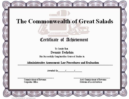 football awards certificates