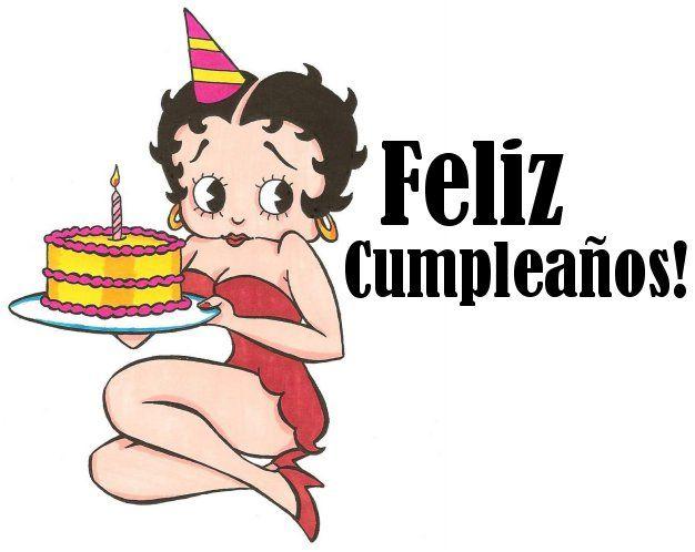 betty boop happy birthday images – Spanish Birthday Greetings