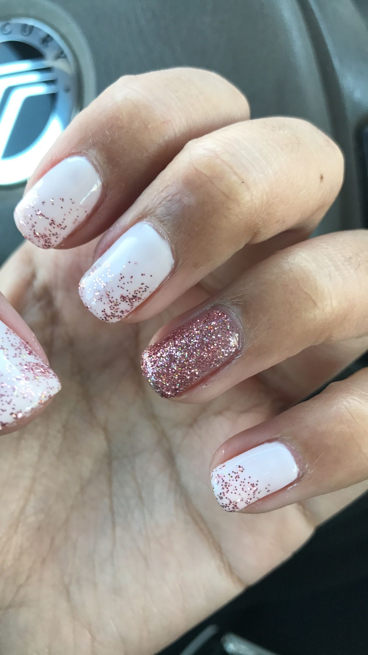 Cute Nails Pink Soft Pink Ombre Glitter Shellac Real Nails Nails All Glitter Cute Nails Pink Ombre Nails Ombre Nails Glitter