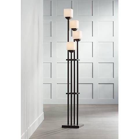 Light Tree Four Light Bronze Torchiere Floor Lamp 22087 Lamps Plus Torchiere Floor Lamp Floor Lamp Tall Floor Lamps