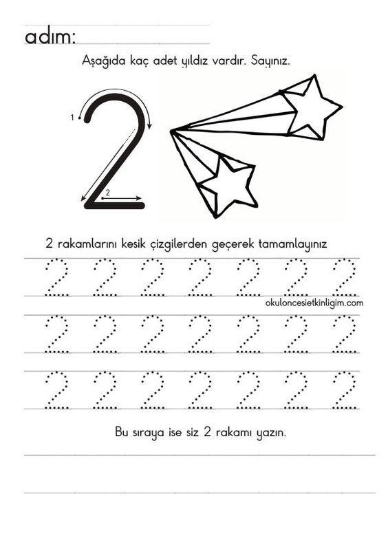 Anasinifi Matematik Etkinlikleri 2 Rakami Okuloncesi Sanat Ve