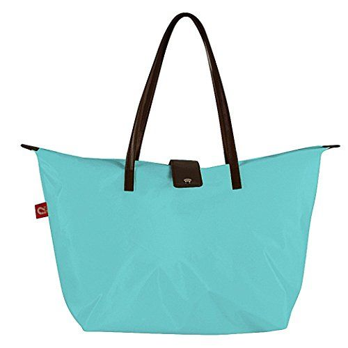 Oakarbo Tote Bag Foldable N Waterproof Shoulder Bag Beach Shopping Travel L 20 x W 6 x H 12Celeste >>> You can get more details by clicking on the image.