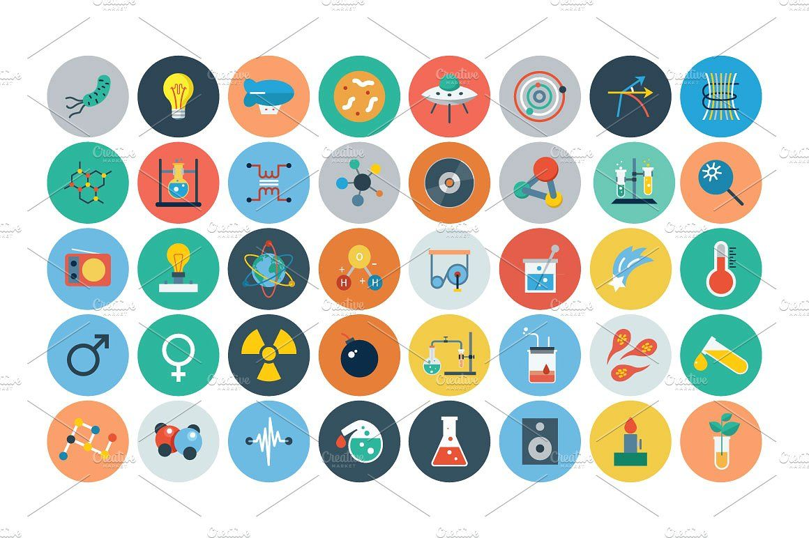 100 Science Flat icon